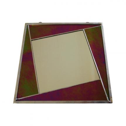 Specchietto giallo-fuxia