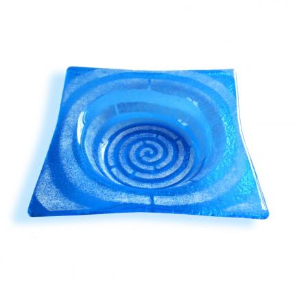 Bomboniera quadrata azzurro scuro