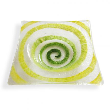 Bomboniera trasparente con spirale