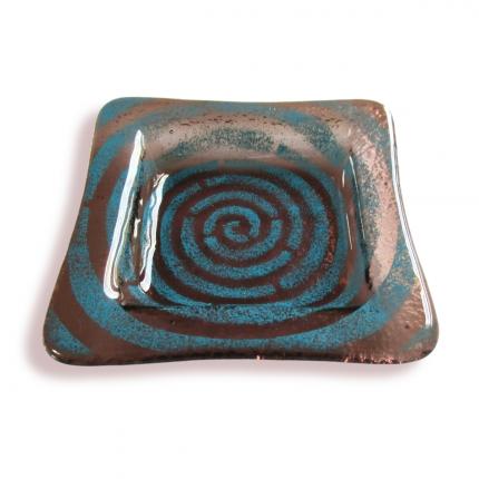 Bomboniera bronzo spirale blu
