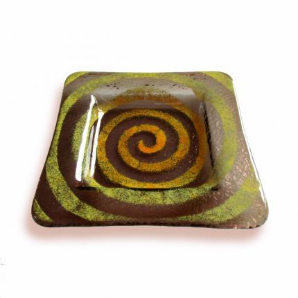 Bomboniera bronzo spirale verde