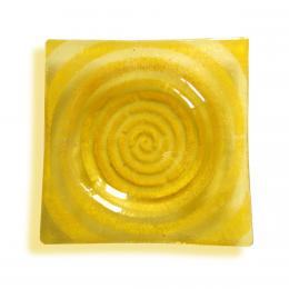 Bomboniera quadrata gialla