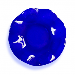 Bomboniera con bordo ondulato blu