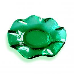 Bomboniera con bordo ondulato verde