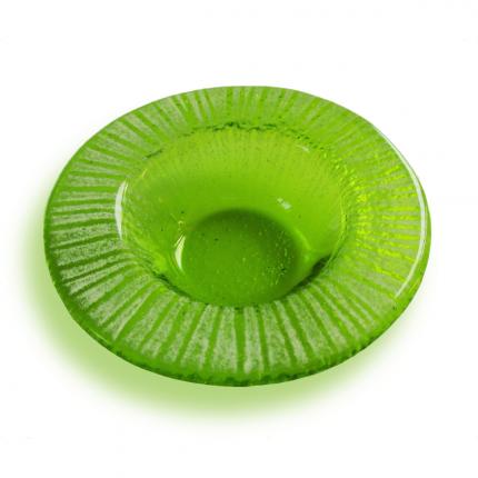 Bomboniera verde con striature