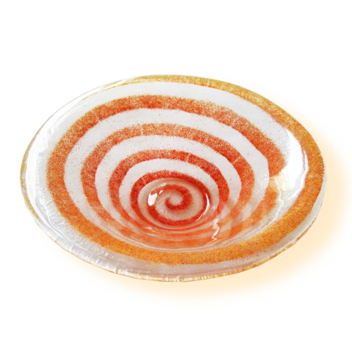 Ciotola trasparente con spirale