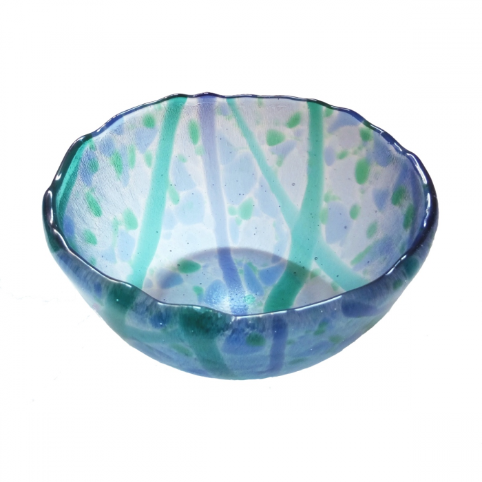 Ciotola trasparente decorata