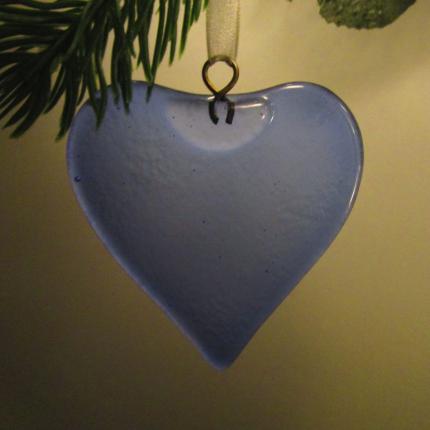 Decorazione in vetro di Murano cuore glicine