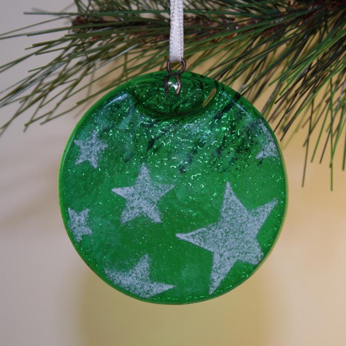 Tondo verde con stelle