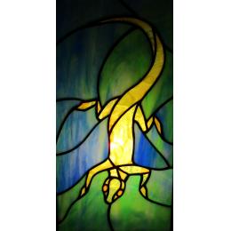 Lampada da tavolo con salamandra