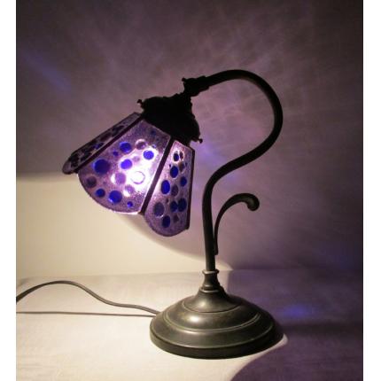 Lampada da tavolo viola
