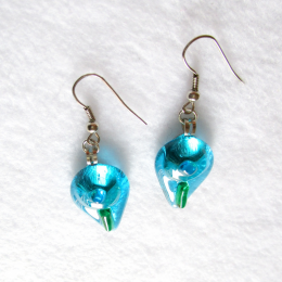 Orecchini azzurro verde blu