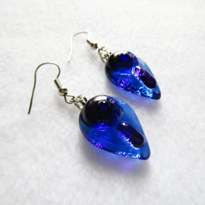 Orecchini celeste viola blu