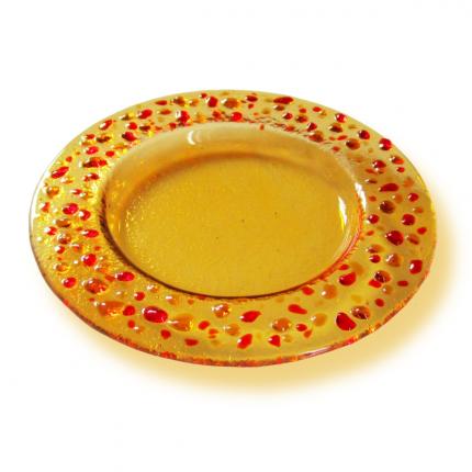 Piattino giallo paglia