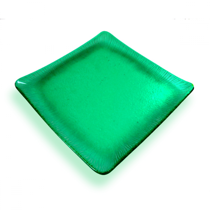 Piattino verde quadrato