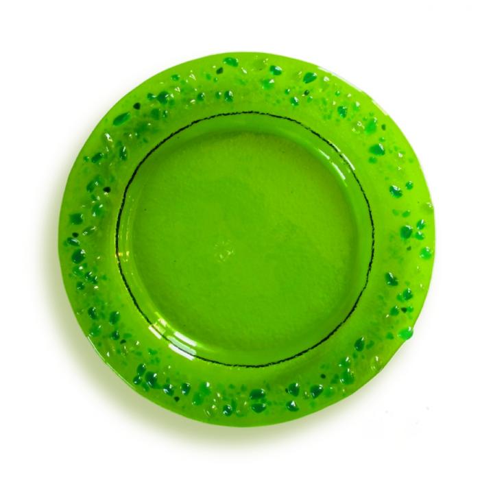 Piattino verde tondo