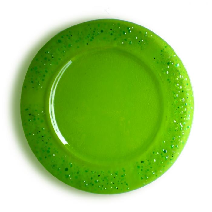 Piatto verde serie lapilli