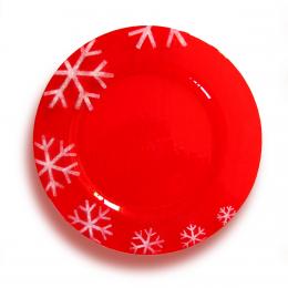 Piatto di Natale rosso