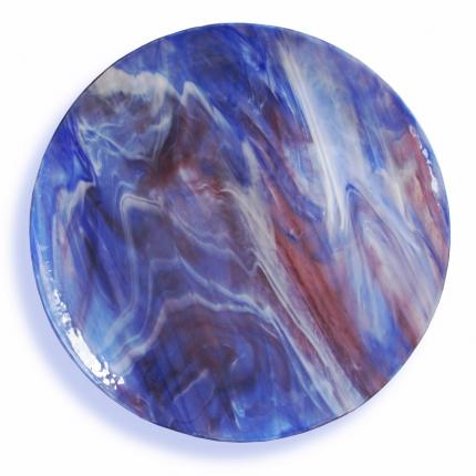 Variegato - piatto in vetro semi-trasparente