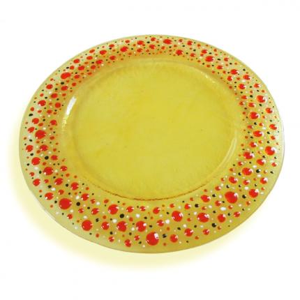 Stille - piatto-sottopiatto giallo paglia