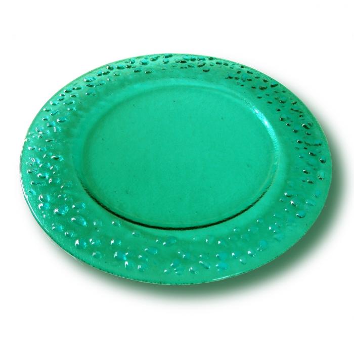 Piatto verde acqua serie lapilli