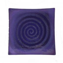 Piatto quadrato viola