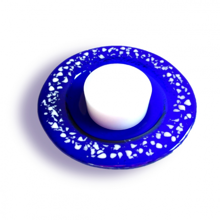 Portacandela blu