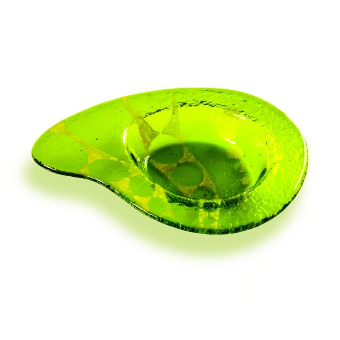 Salsiera verde a forma di goccia