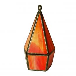 Scatola pentagonale rossa