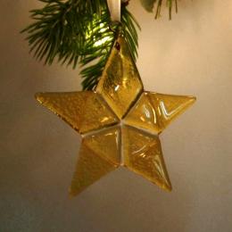 Decorazione in vetro di Murano - stella gialla