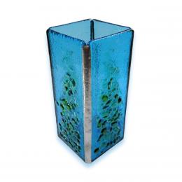 Vasetto azzurro con lapilli