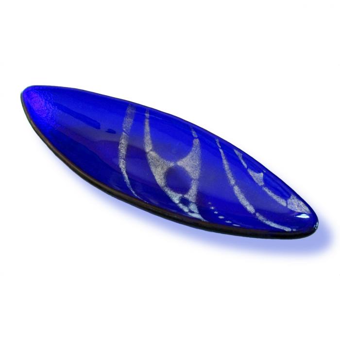 Vassoio ovale blu